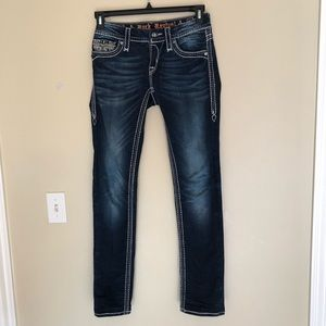 Rock Revival Womens Jeans Avery Straight Size 26.